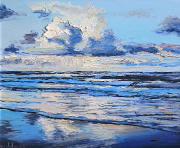 Cloud-Reflections---Oil-on-Canvas-25.5-x-30.5-cm-