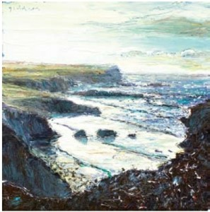 Pentreath Cliffs 300mm x 300mm, oil on canvas
