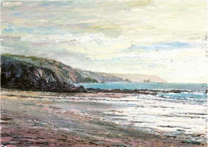 Towards Black Head from Kennack Sands 500mm x 700mm, oil on linen