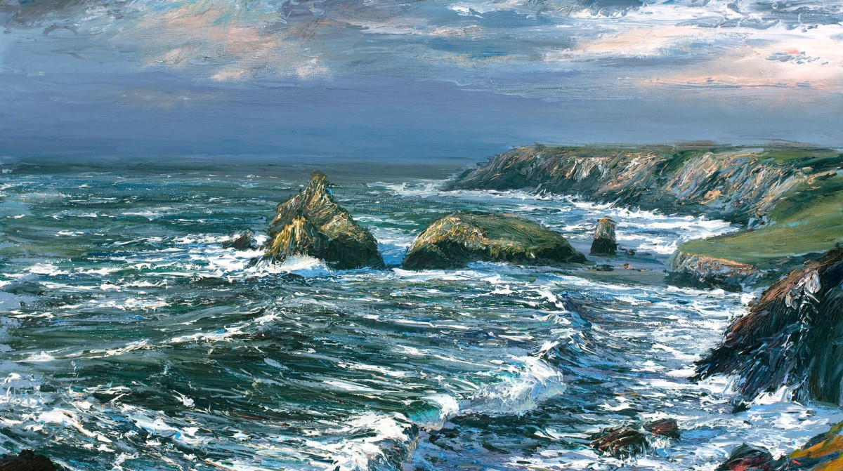 Cornish art seascape paintings by andrew giddens